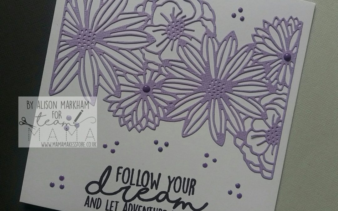 TUTORIAL: Alison's Lilac Floral Card