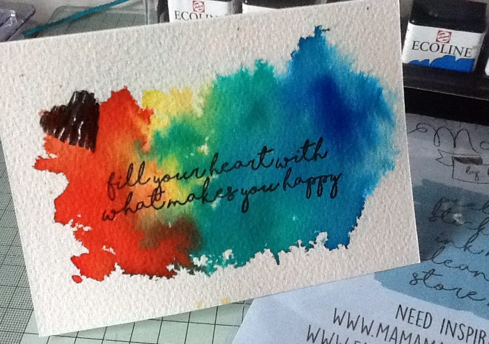 TUTORIAL: Ink yourself happy with Diane Ingram