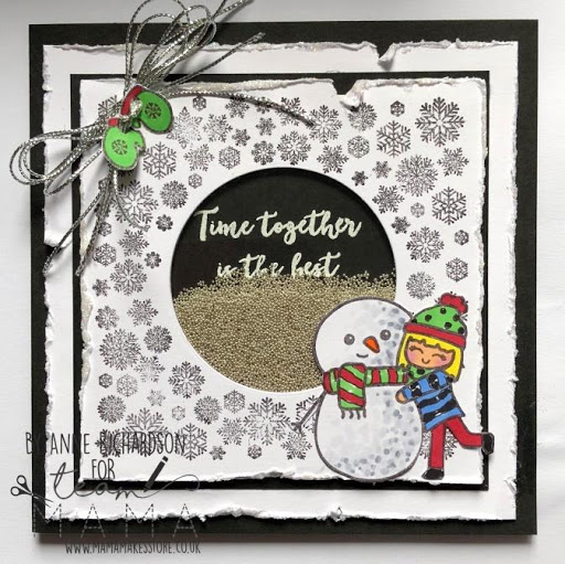 Snowflake circle and Winter Bella stamps – Anne Richardson