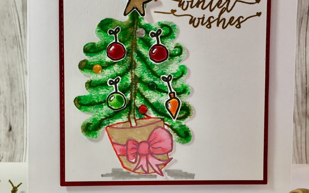 Christmas tree cards – Katharine Burchell