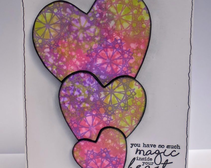 May Stampscription Tutorial: 3 Hearts Card